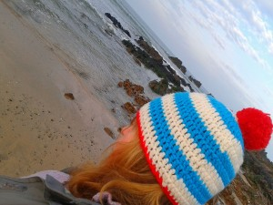 Me in my fav hat at the beach