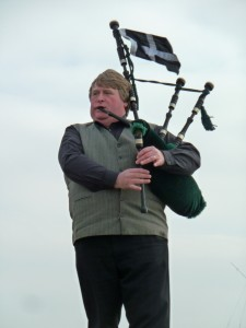 Piper playing Cornish Anthem