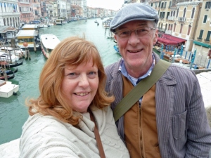 Don and I on the Rialto Bridge