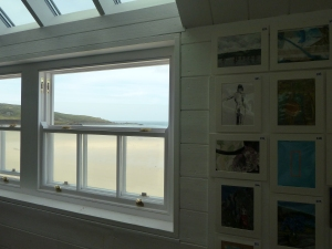 Window over Porthmeor Beach from the loft studio