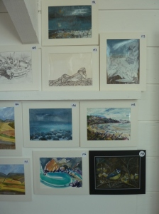 My Seascape Postcard is in the middle/