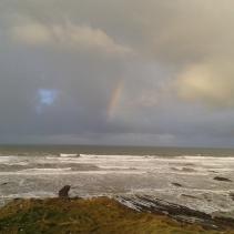 Beginnings of a rainbow