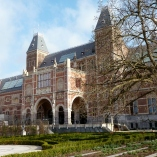 Back of the Rijksmuseum and garden