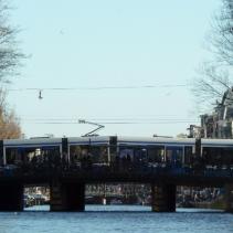 Trams on the bridges