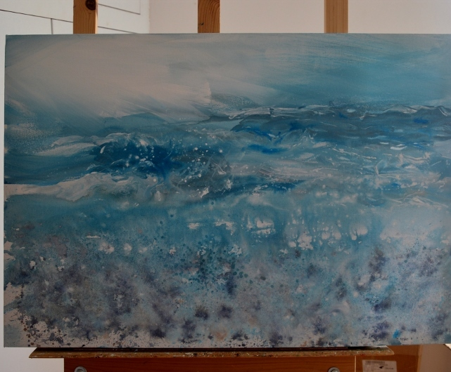 Work in Progress on the Easel