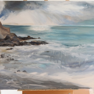 Changing the rocks and adding breakwater foreground