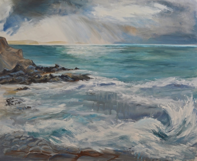 """Sea Gazing"" 130 x 110cm on canvas"