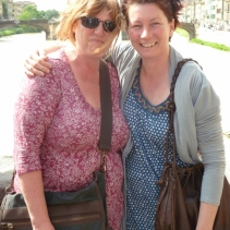 Me and Rach on the Ponte Vecchio, florence