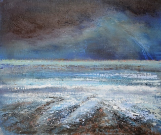 Brooding skies and infinity of the seascape