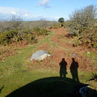 Winter shadows on the moorland