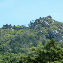 View towards the Sintra Palaces
