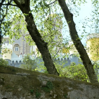 First glimpse of Pena National Palace