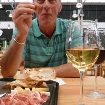 Black pig ham and best wines