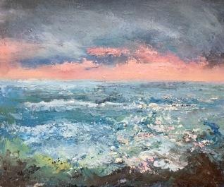 pink summer seas